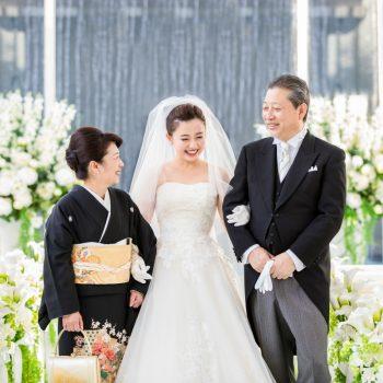 家族との絆が深まる挙式会場